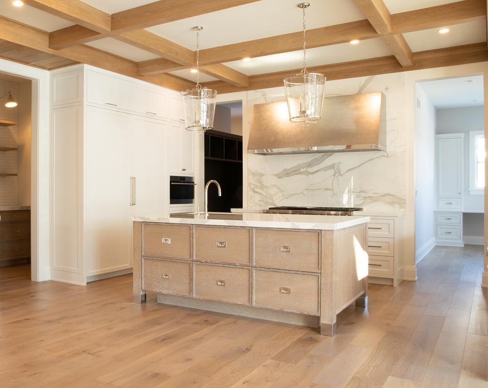 engineered hardwood floor in a kitchen instead of solid hardwood flooring