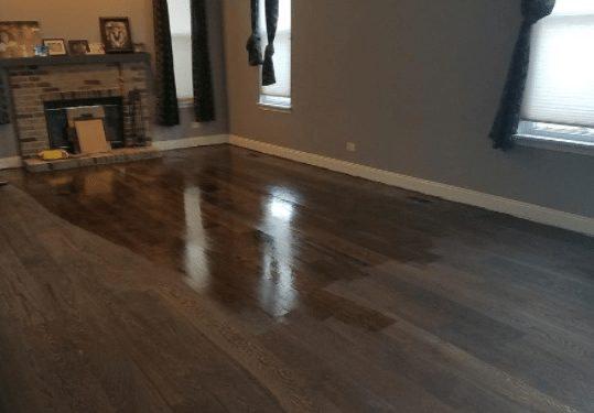 refinishing engineered hardwood flooring color